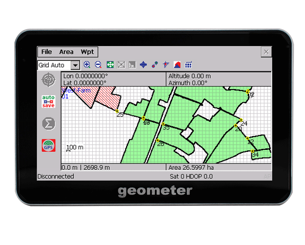 GeoMeter - Precise GPS area & distances measurement